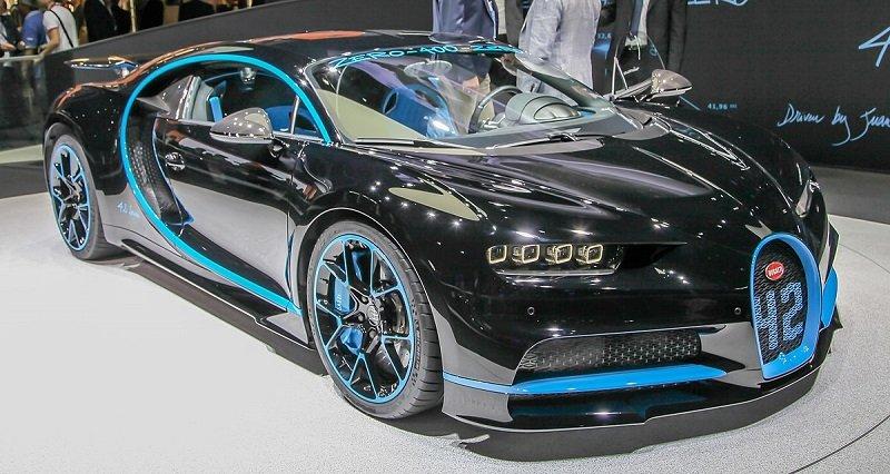 9 позиция -Bugatti Chiron в рейтинге самых дорогих автомобилей