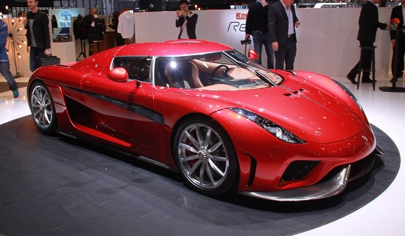 10 место -Koenigsegg Regera в топ-10 самых дорогих автомобилей в мире