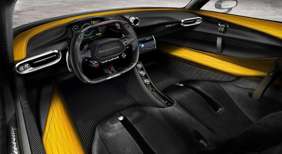Интерьер самой быстрой машины в мире Hennessey Venom F5