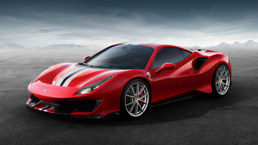 итальянцы показали свой самый красивый автомобиль в мире Ferrari 488 Pista