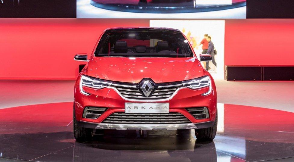 Живые фотографии нового купеобразного кроссовера Renault Arkana