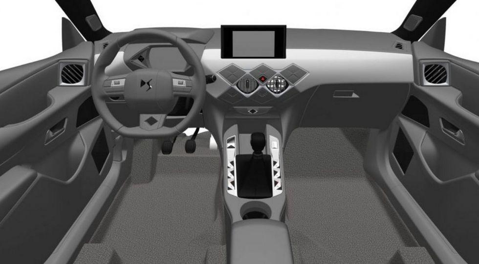 Патентное изображение салона DS3 Crossback