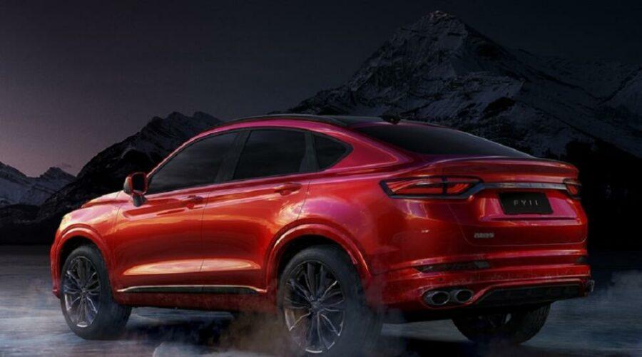 Новый китайский купеобразный кроссовер Geely FY11