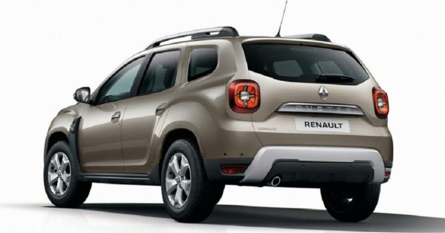 Вид сзади Renault Duster 2019 модельного года