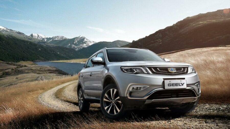 На пятом месте самых дорогих китайских SUV в России находится флагман компании - Geely Atlas