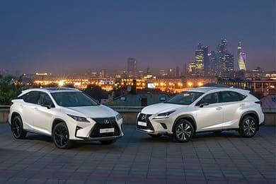 Японские кроссоверы Lexus UX, NX и RX получили специальную серию Black Vision и Black Royal