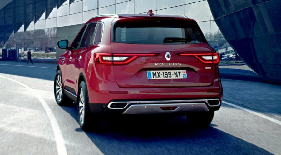 Вид сзади Renault Koleos