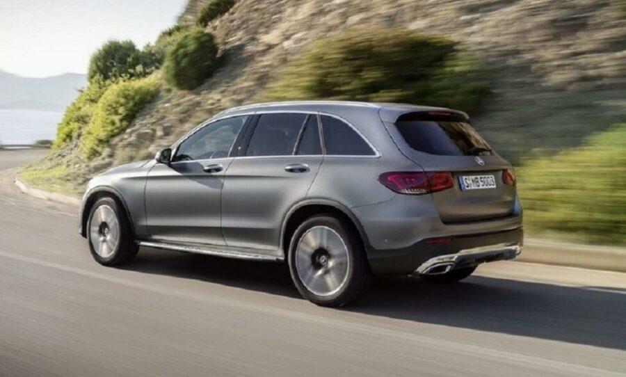 Вид сзади Mercedes-Benz GLC