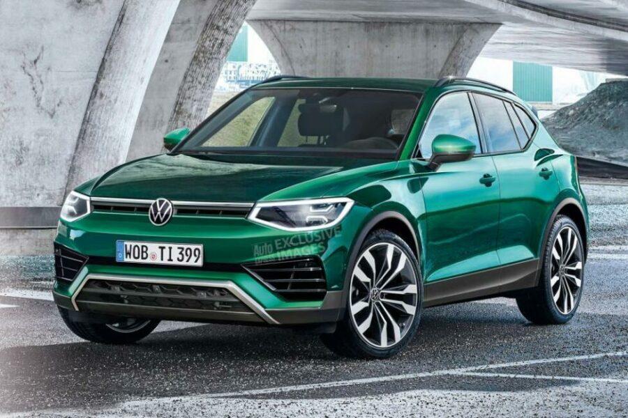 """Первые """"живые"""" фото нового кроссовера Volkswagen Tiguan 2022 модельного года"""