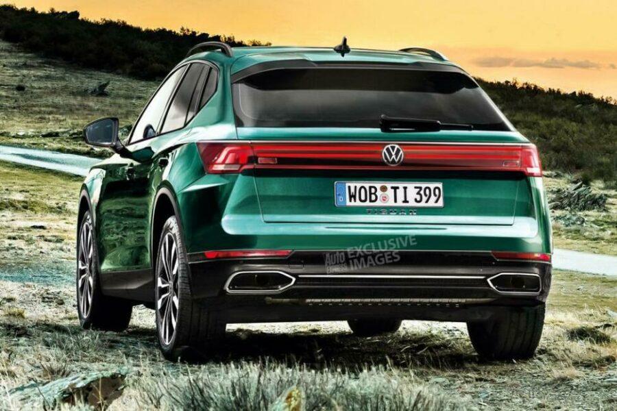 Вид сзади Volkswagen Tiguan