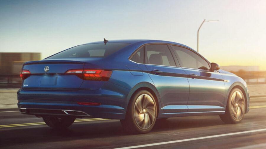 Volkswagen Jetta: вид сзади