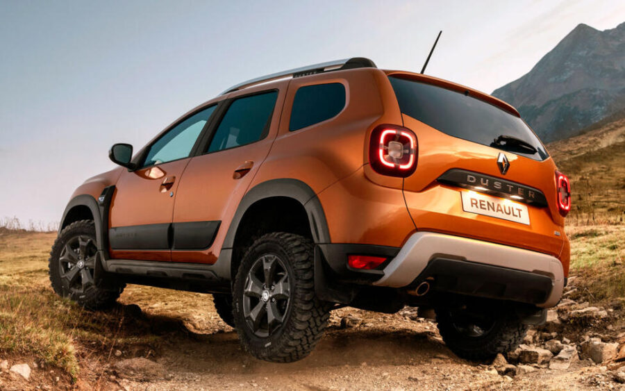 Renault Duster: вид сзади