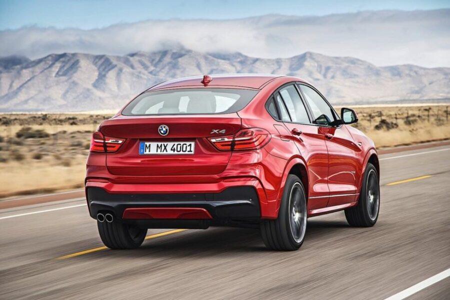BMW X4: вид сзади
